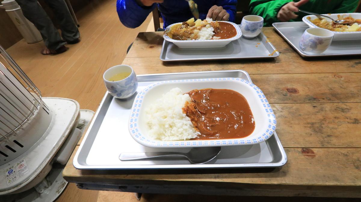 高谷池ヒュッテの夕食
