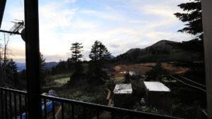 高谷池ヒュッテ2階バルコニーからの風景
